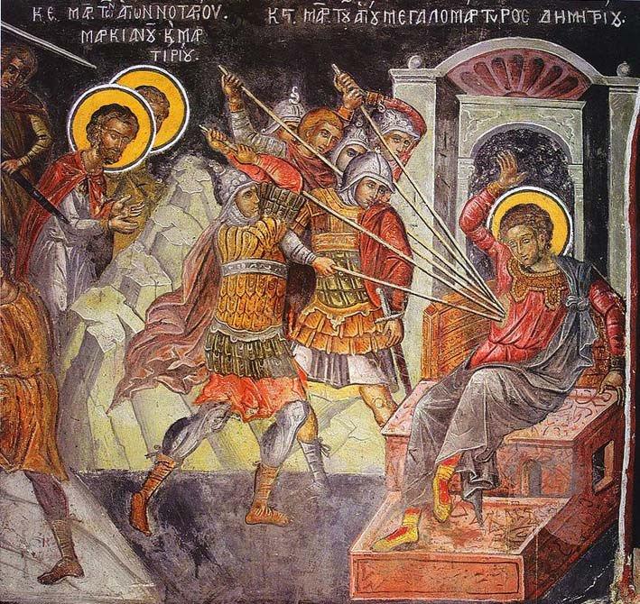 Άγιος Δημήτριος Μεγαλομάρτυρας Χαιρετισμοί Αγίου Δημητρίου