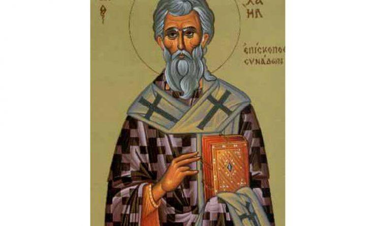 Όσιος Μιχαήλ επίσκοπος Συνάδων ο Ομολογητής