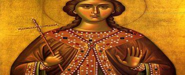 Η αγία Βαρβάρα