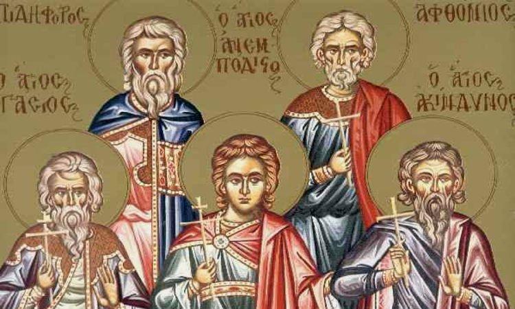 Άγιοι Ακίνδυνος, Αφθόνιος, Πηγάσιος, Ελπιδηφόρος, Ανεμπόδιστος