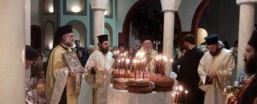 Λαμπρός εορτασμός στην Ι.Μ. Χαλκίδος για τον Όσιο Δαυίδ