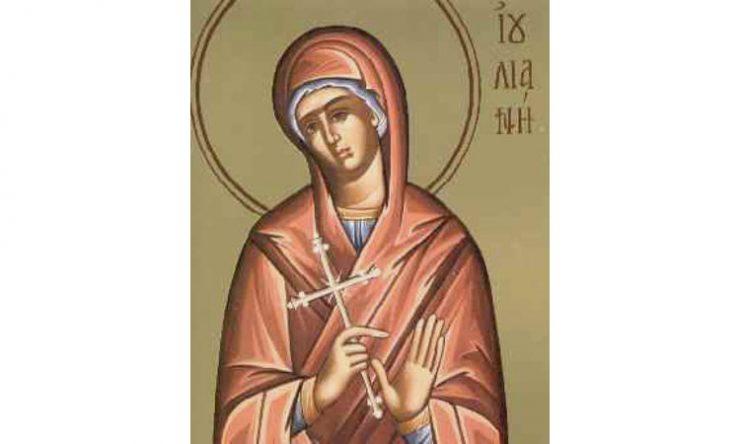 Αποτέλεσμα εικόνας για Αγία Ιουλιανή 21 Δεκεμβρίου