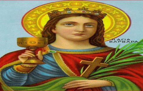 Γιατί στις εικόνες η Αγία Βαρβάρα κρατάει ένα ποτήρι