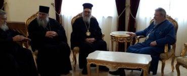 Συνάντηση Πατριάρχη Αντιοχείας με Αρχιεπίσκοπο Κύπρου
