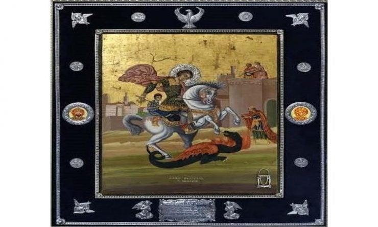 Υποδοχή Εικόνας Αγίου Γεωργίου Χαλιναρά στην Καλαμαριά Υποδοχή Ιεράς Εικόνας Αγίου Γεωργίου Χαλιναρά στην Κύπρο
