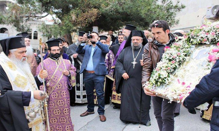 Υποδοχή Εικόνος Παναγίας Πορταΐτισσας στη Θεσσαλονίκη