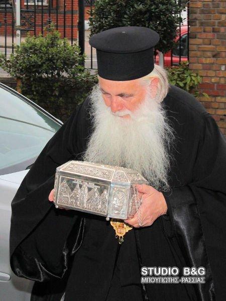 Υποδοχή των Ιερών λειψάνων Αγίου Λουκά του Ιατρού στο Λονδίνο