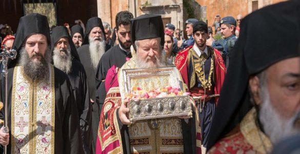Υποδοχή της χειρός της Αγίας Μαρίας Μαγδαληνής στα Χανιά