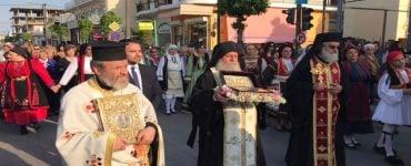 Υποδοχή Ιερού Λειψάνου Αγίου Γεωργίου στην Λάρισα