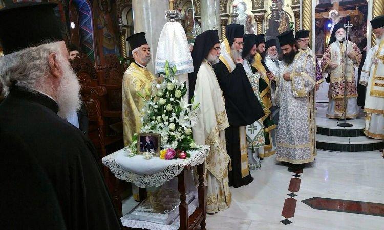 Ο Πατριάρχης Αλεξανδρείας αποχαιρέτησε την μητέρα του