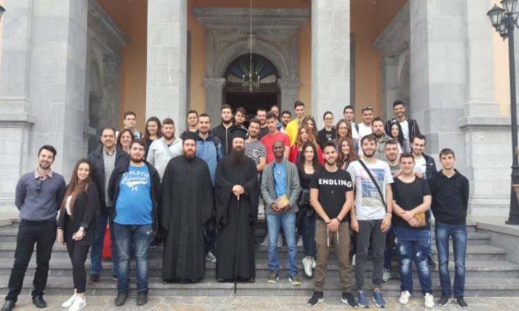Φοιτητές Ανωτάτης Πατριαρχικής Ακαδημίας Κρήτης στην Ι.Μ. Πέτρας
