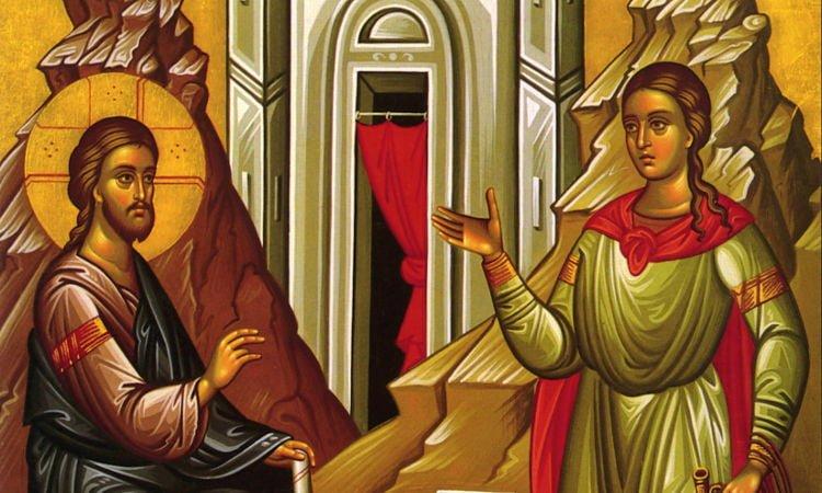 Η Κυριακή της Σαμαρείτιδος Υποδοχή Λειψάνου Αγίας Φωτεινής από Ι.Μ. Ιβήρων στα Τρίκαλα