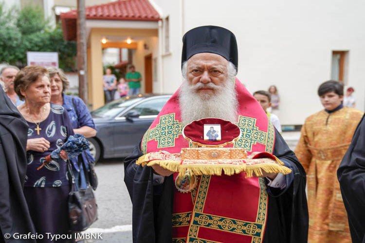 Υποδοχή Ιερού Λειψάνου Αγίου Κοσμά στη Νάουσα