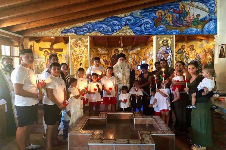 Βάπτιση παιδιών Ρομά στην Ι.Μ. Δημητριάδος
