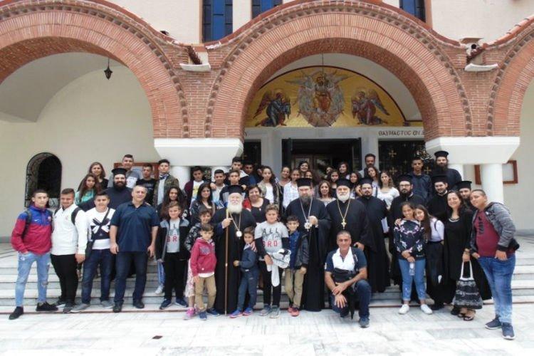 Φιλοξενία νέων του Πατριαρχείου Ιεροσολύμων στην Ι.Μ. Σερρών
