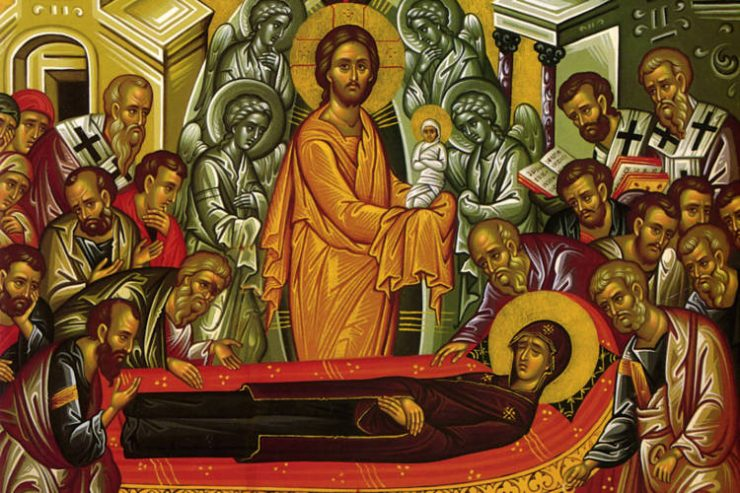Αγρυπνία αποδόσεως της εορτής Κοιμήσεως Θεοτόκου στο Λαύριο