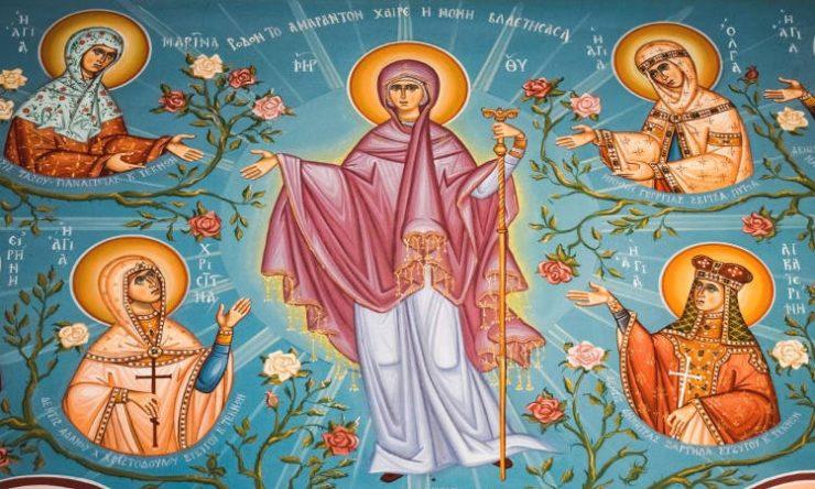 Εγκώμια της Παναγίας στην Μονή Γηροκομήτισσας της Ι.Μ. Πατρών