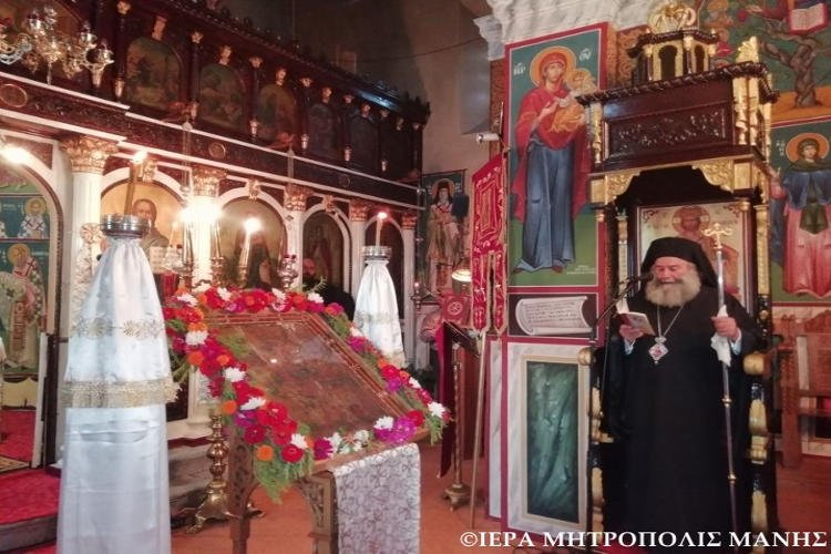 Τελευταία Παράκληση της Παναγίας στην Ι.Μ. Μάνης