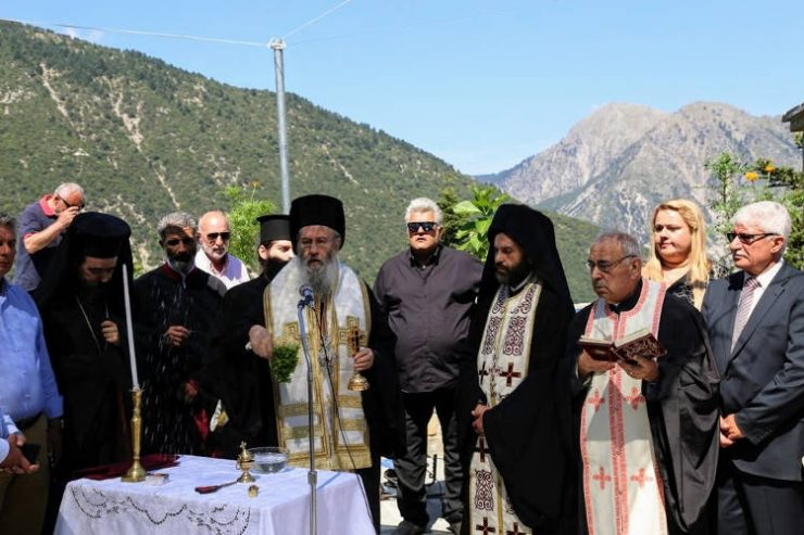 Ναυπάκτου Ιερόθεος στην Καστανιά Ορεινής Ναυπακτίας