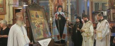 Ο Παρακλητικός Κανόνας στην Παναγία στην Ι.Μ. Σύρου