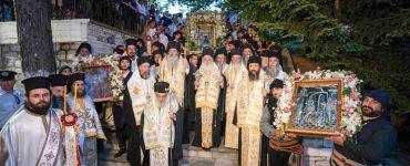 Η Κοίμηση της Παναγίας στην Παναγία Σουμελά στο Βέρμιο
