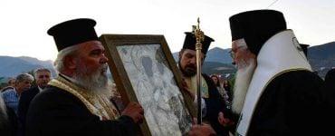Υποδοχή Εικόνας Παναγίας στο ορεινό χωριό Μαλαντρένι Αργολίδος