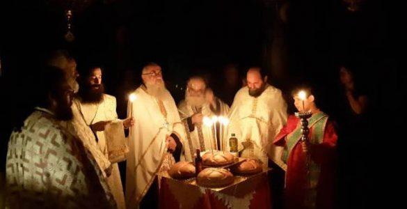 Αγρυπνία Αγίου Ευσταθίου στην Αγία Παρασκευή Γρεβενών