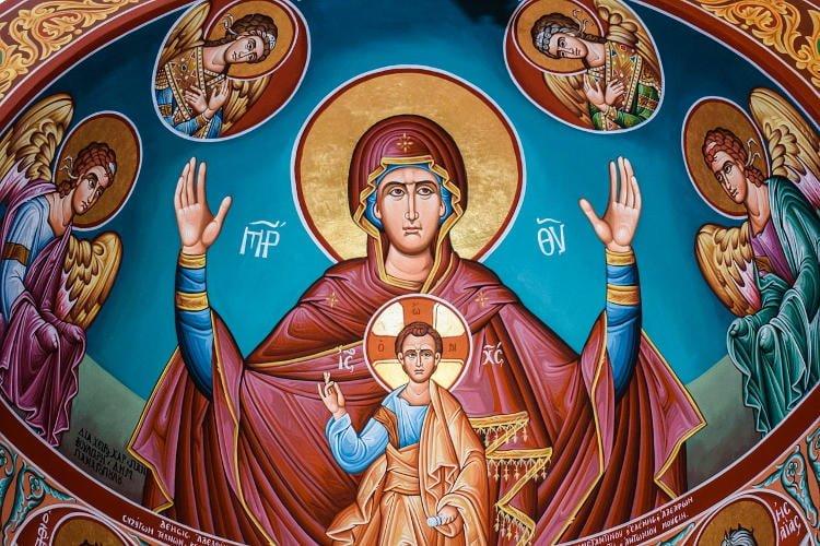 Αγρυπνία Αγίας Σκέπης στη Μονή Κορώνης