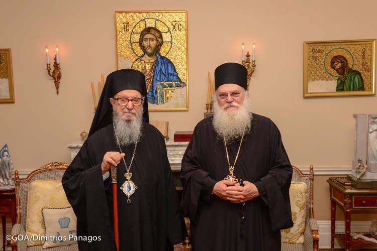 Ο Ηγούμενος Μονής Βατοπαιδίου στον Αρχιεπίσκοπο Αμερικής