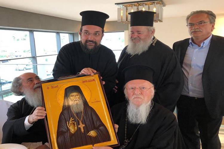 Το δώρο Κυδωνίας Δαμασκηνού στον Οικουμενικού Πατριάρχη