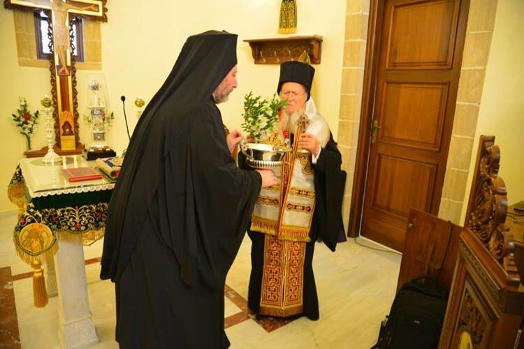 Θυρανοίξια Ιερού Ναού Οσίου Νικηφόρου του Λεπρού από τον Οικουμενικό Πατριάρχη