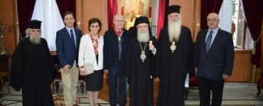 Παρασημοφόρηση Μεσογαίας Νικολάου από τον Πατριάρχη Ιεροσολύμων