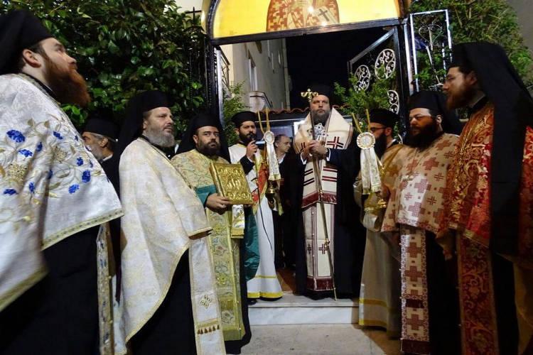 Μεθέορτος Εσπερινός Αγίου Κυπριανού στο Ηράκλειο Αττικής