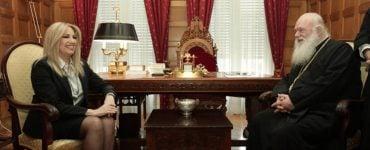 Συνάντηση Αρχιεπισκόπου Αθηνών με την Φώφη Γεννηματά