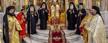 Πρώτη Αρχιερατική Θεία Λειτουργία του Λαρίσης Ιερωνύμου