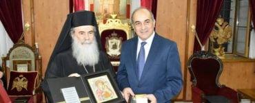 Ο Πρόεδρος της Κυπριακής Βουλής στο Πατριαρχείο Ιεροσολύμων