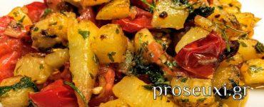 Πατάτες φούρνου - Μοναστηριακή συνταγή