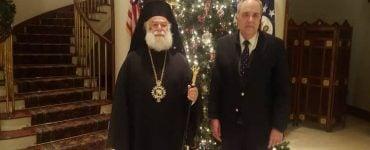 Ο Πατριάρχης Αλεξανδρείας στην Αμερικανική Πρεσβεία Καΐρου