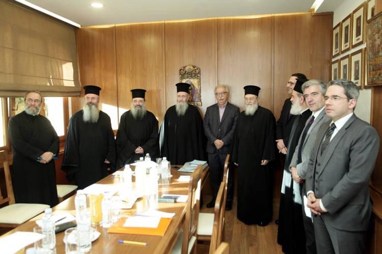 Συνάντηση του Υπουργού Παιδείας με Επιτροπή της Εκκλησίας