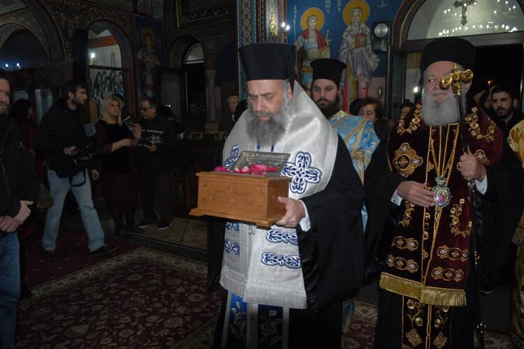 Η Χαλκίδα υποδέχτηκε λείψανα Αγίων Ραφαήλ Νικολάου και Ειρήνης