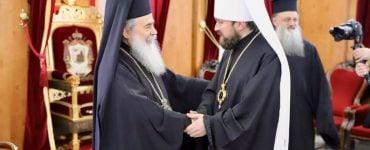 Συνάντηση Πατριάρχη Ιεροσολύμων με Βολοκολάμσκ Ιλαρίωνα