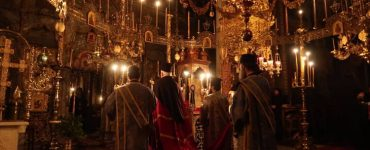 Τρισαρχιερατική Θεία Λειτουργία στην Μονή Ξενοφώντος Αγίου Όρους