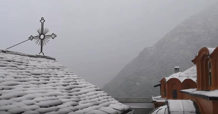 Χιόνια στο Άγιον Όρος 2019 - Μονή Διονυσίου (ΦΩΤΟ-ΒΙΝΤΕΟ)