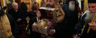 Υποδοχή Τιμίας Κάρας Οσίου Δαβίδ στο Ριζαριό Τρικάλων
