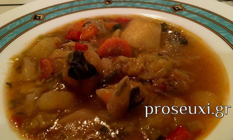 Μοναστηριακή Χορτόσουπα (συνταγή)