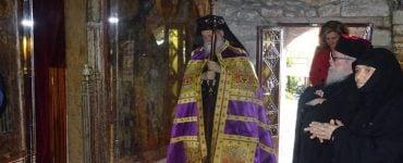 Προηγιασμένη στη Μονή Οσίου Παταπίου Λουτρακίου