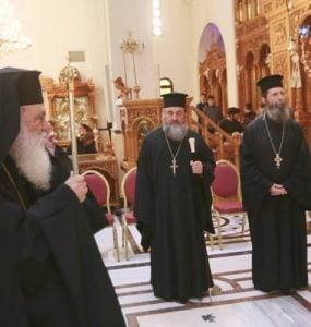 Ο Αρχιεπίσκοπος στην Ακολουθία του Νιπτήρος