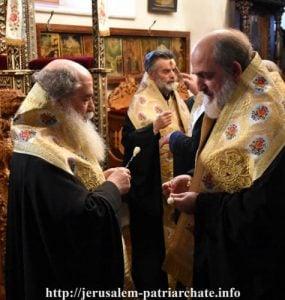 Ιερό Ευχέλαιο της Μεγάλης Τετάρτης στο Πατριαρχείο Ιεροσολύμων