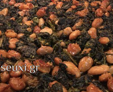 Γίγαντες με χόρτα στο φούρνο - Παραδοσιακή συνταγή