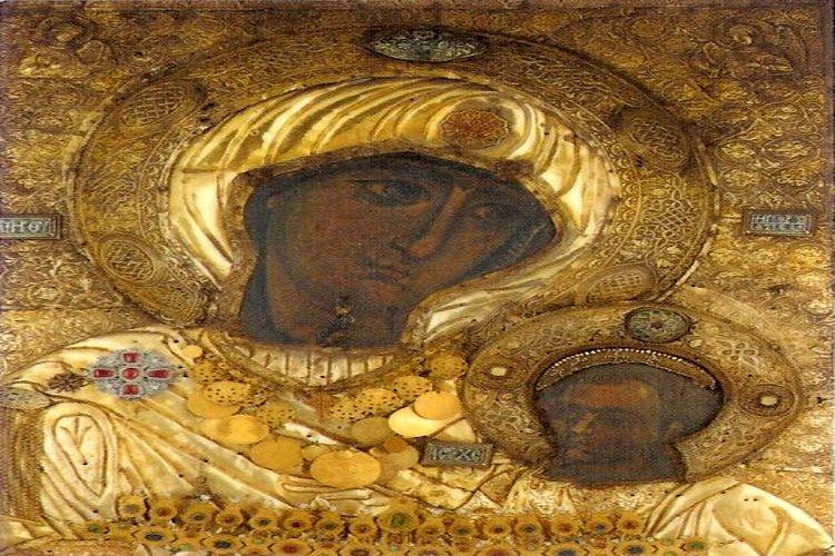 Η Παναγία η Πορταΐτισσα στα Σέρβια Κοζάνης Πανήγυρις Παναγίας Πορταΐτισσας στη Μητρόπολη Τρίκκης